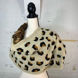 Oversized winter knit infinity scarf
